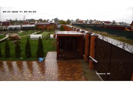 Монтаж видеонаблюдения в загородном доме д. Поповка