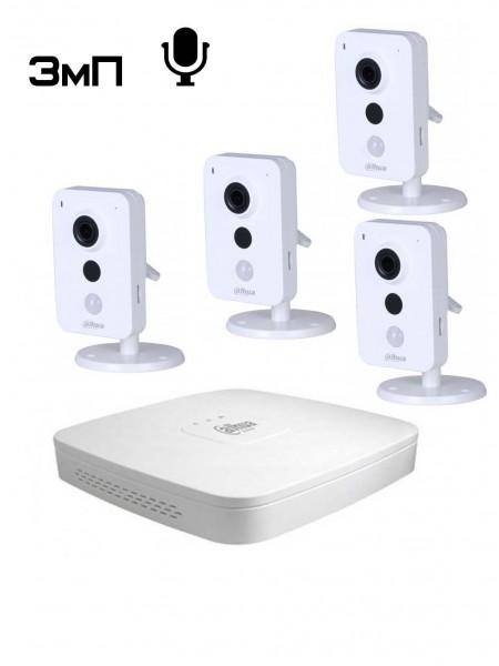 IP видеонаблюдение в офисе - Комплект №4