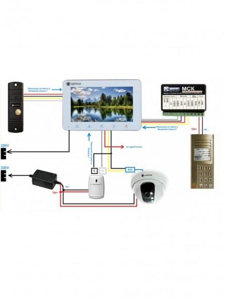 Подключение видеодомофона к подъездному домофону (через адаптер)